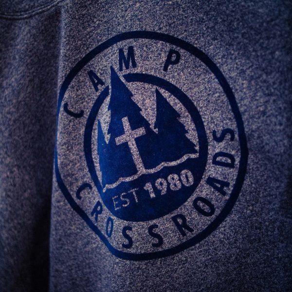 Adult Marled Hoodie with Raised Logo